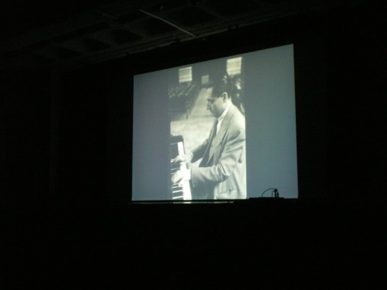 Lipatti at the piano in the documentary