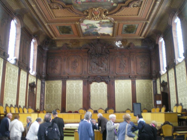 The Salle de Parlement prior to Andre Tubeuf's presentation