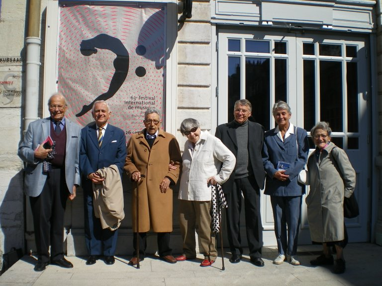 Witnesses to Lipatti's last recital with producers, biographers, etc