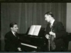 Lipatti and an unidentified violinist