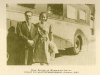 with his wife Madeleine in front of EMI's recording car, Geneva, July 1950